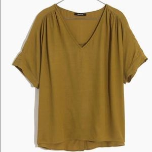 NWT Madewell Drapey V-Neck Button Back Top